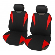 Coprisedili coppia anteriore universali in poliestere adattabili a tutte le auto con sedili standard - Modello R2 ROSSO