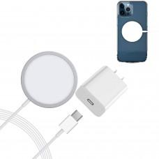 CARICATORE MAGNETICO CON GIUNTO DI TIPO C 15W + ADATTATORE USB-C 18W COD. 4526