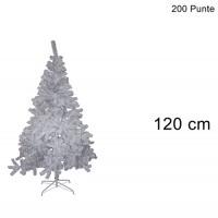 ALBERO DI NATALE COLORAZIONE BIANCO DI 120CM CON 200 PUNTE COD. 7563