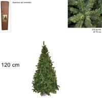 Albero di Natale Super Folto Pino Imperatore Salvaspazio 120cm 202 punte 6474