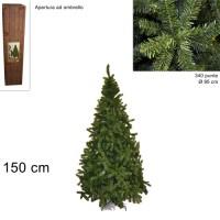 Albero di Natale Super Folto Pino Imperatore Salvaspazio 150cm 340 punte 6481