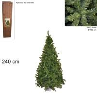 Albero di Natale Super Folto Pino Imperatore Salvaspazio 240cm 1130 punte 6511