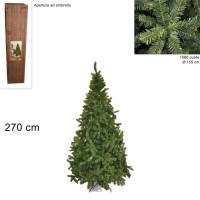 Albero di Natale Super Folto Pino Imperatore Salvaspazio 270cm 1586 punte 6528