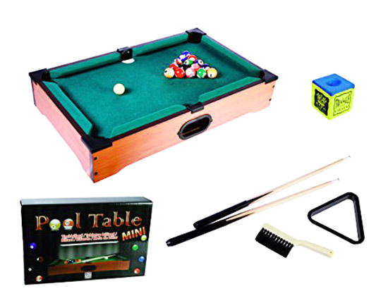 Mini tavolo da biliardo in legno con 2 stecche palle gesso - Mini biliardo da tavolo ...