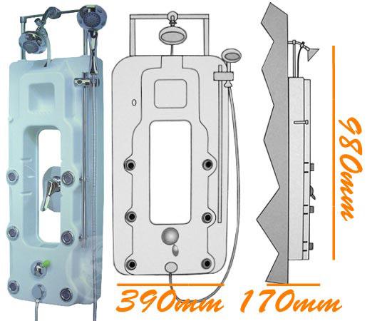 Pannello doccia idromassaggio accessori bagno ebay - Altezza soffione doccia ...