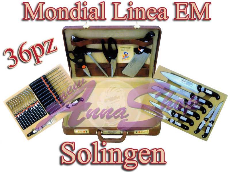 Coltelli forchette 36pz valigia cucina forbice mannaia ebay - Articoli per cucina ...