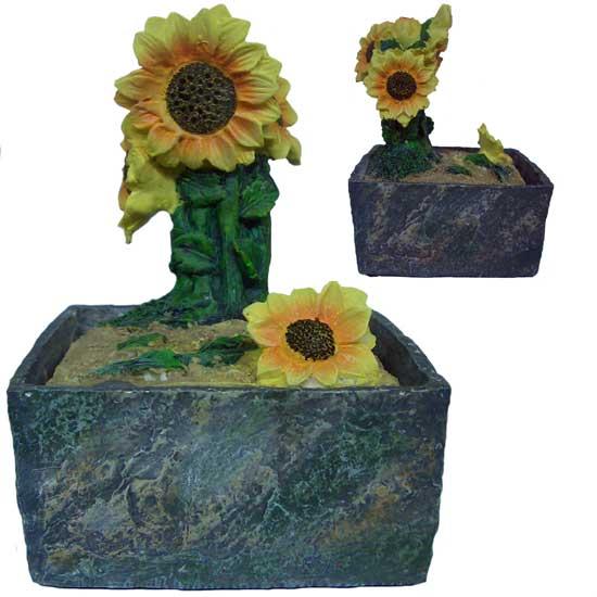 Fontana zen in resina girasole fiore idea regalo ebay for Fontana zen