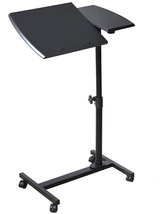 Tavolino con ruote per pc portatile piano reclinabile in - Tavolino porta pc portatile ...