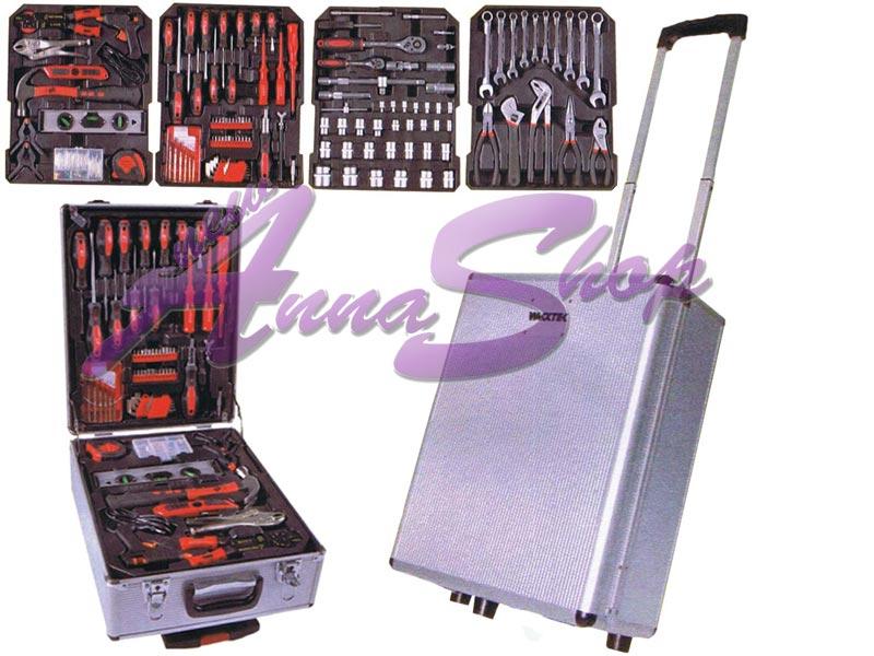 Cassetta porta attrezzi valigetta con ruote accessori vari for Attrezzi per ufficio