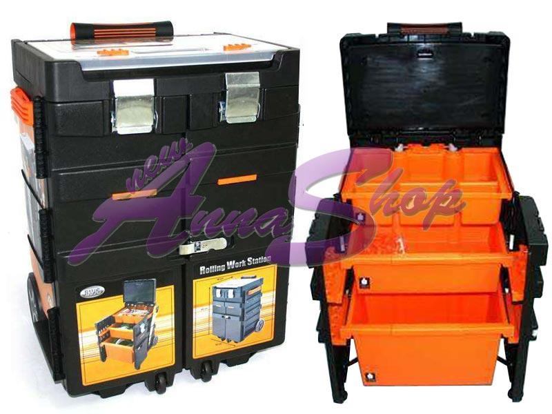 Cassetta per attrezzi trolley valigia con ruote ebay - Cassetta porta attrezzi stanley con ruote ...