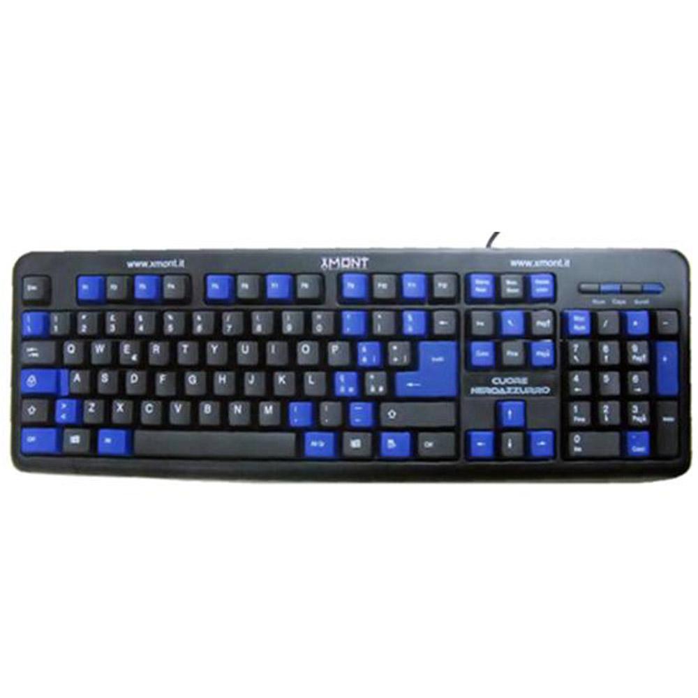 Tastiera per pc con usb cuore nero azzurro - Tastiera del letto ...